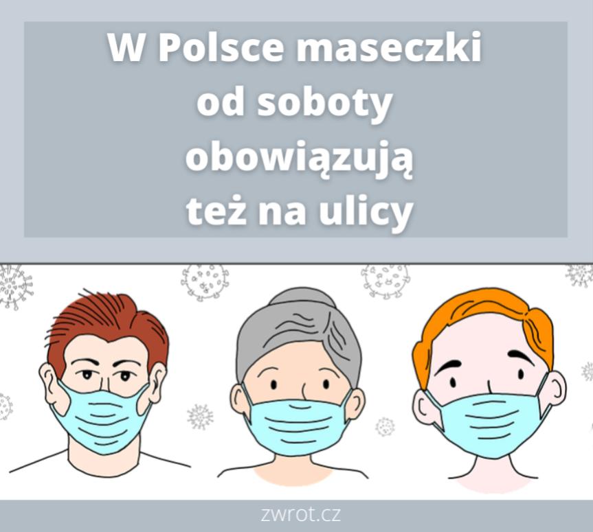 Od soboty w Polsce nowe obostrzenia. Maseczki obowiązkowe również na ulicy
