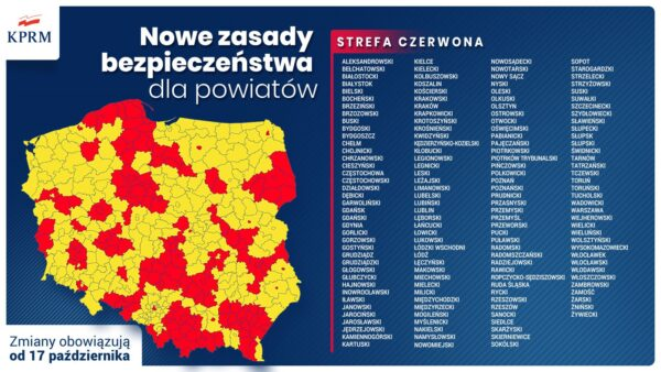 Powiat cieszyński w czerwonej strefie. Jakie restrykcje wprowadzono?