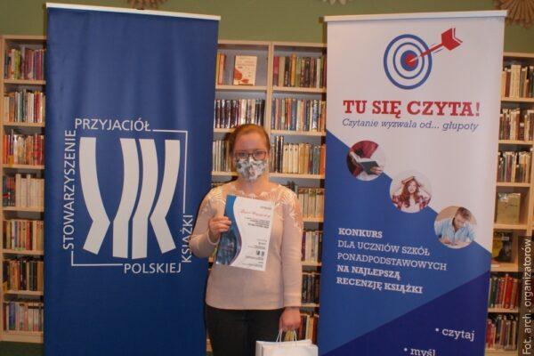 Dorota Baszczynska zwyciężczynią konkursu Tu się czyta!