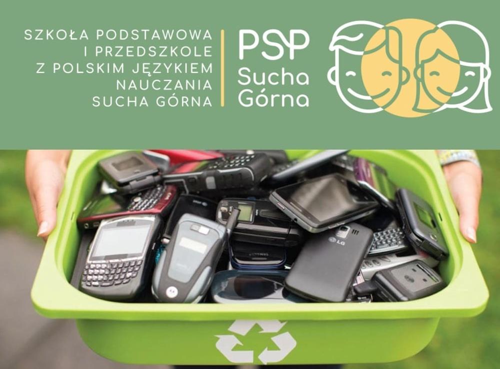 Uczniowie z Suchej Górnej zbierają zużyte telefony komórkowe