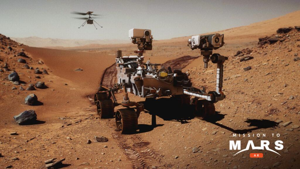 Polska aplikacja Mission to Mars AR