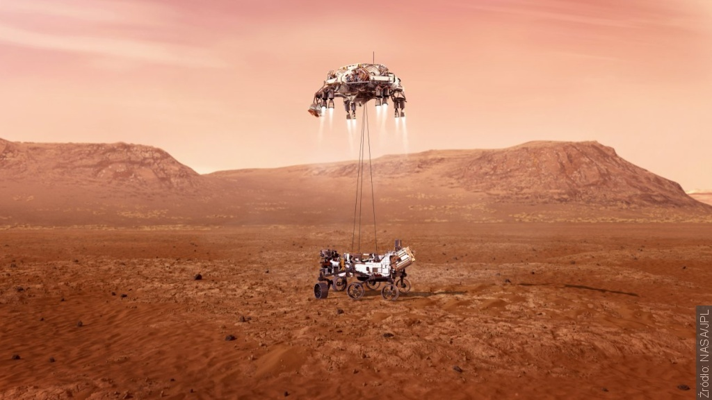 Księżyc w pobliżu Marsa i lądowanie Perseverance na jego powierzchni