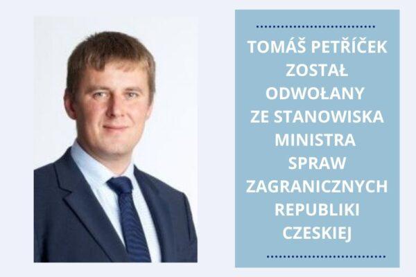Zeman odwołał Petříčka. Kto zostanie nowym ministrem spraw zagranicznych w Czechach?