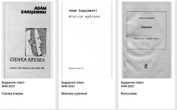 Dostępne są bezpłatne e-booki z utworami Adama Zagajewskiego!