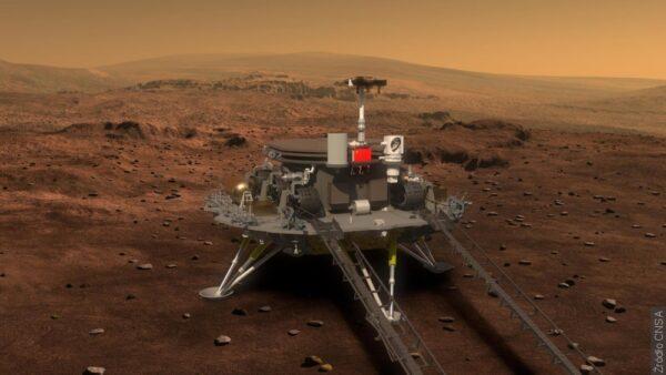 Chiński łazik Zhurong wylądował na powierzchni Marsa