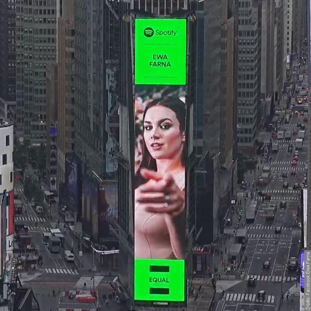 Ewa Farna w reklamie na Times Square!