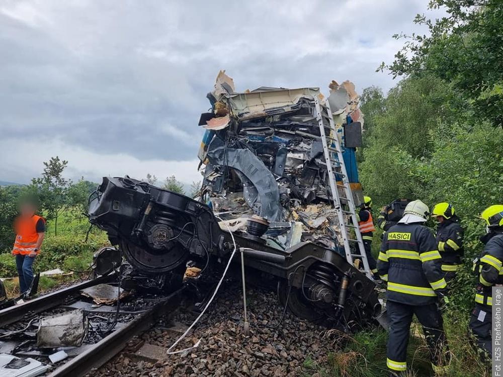Zderzenie pociągów w miejscowości Milavče. Dwie osoby nie żyją, siedem w stanie krytycznym