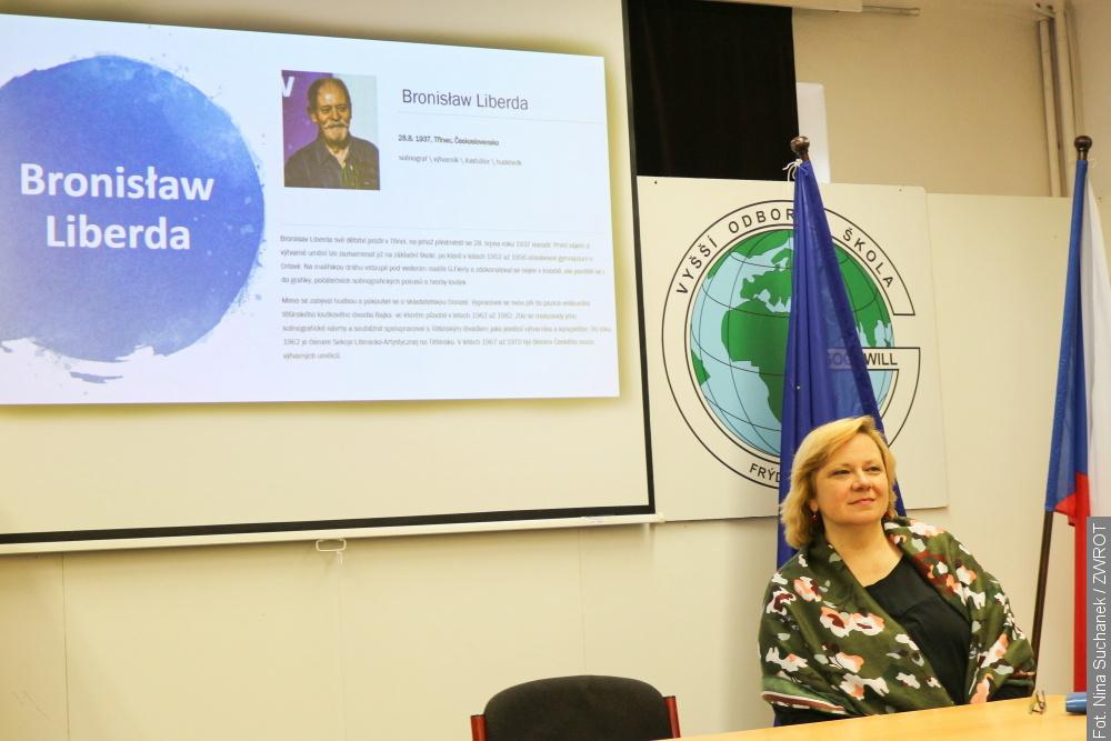 Renata Putzlacher  wspominała we Frydku-Mistku Bronisława Liberdę